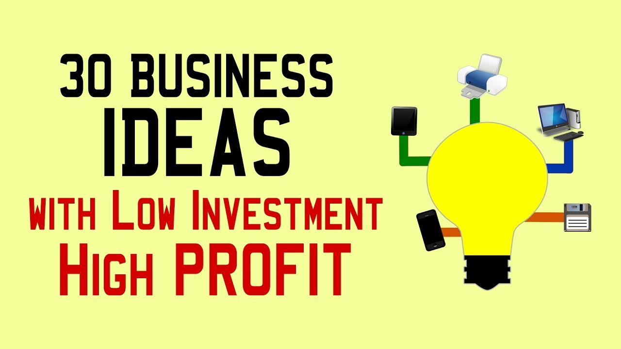 new business with low investment but high profit business